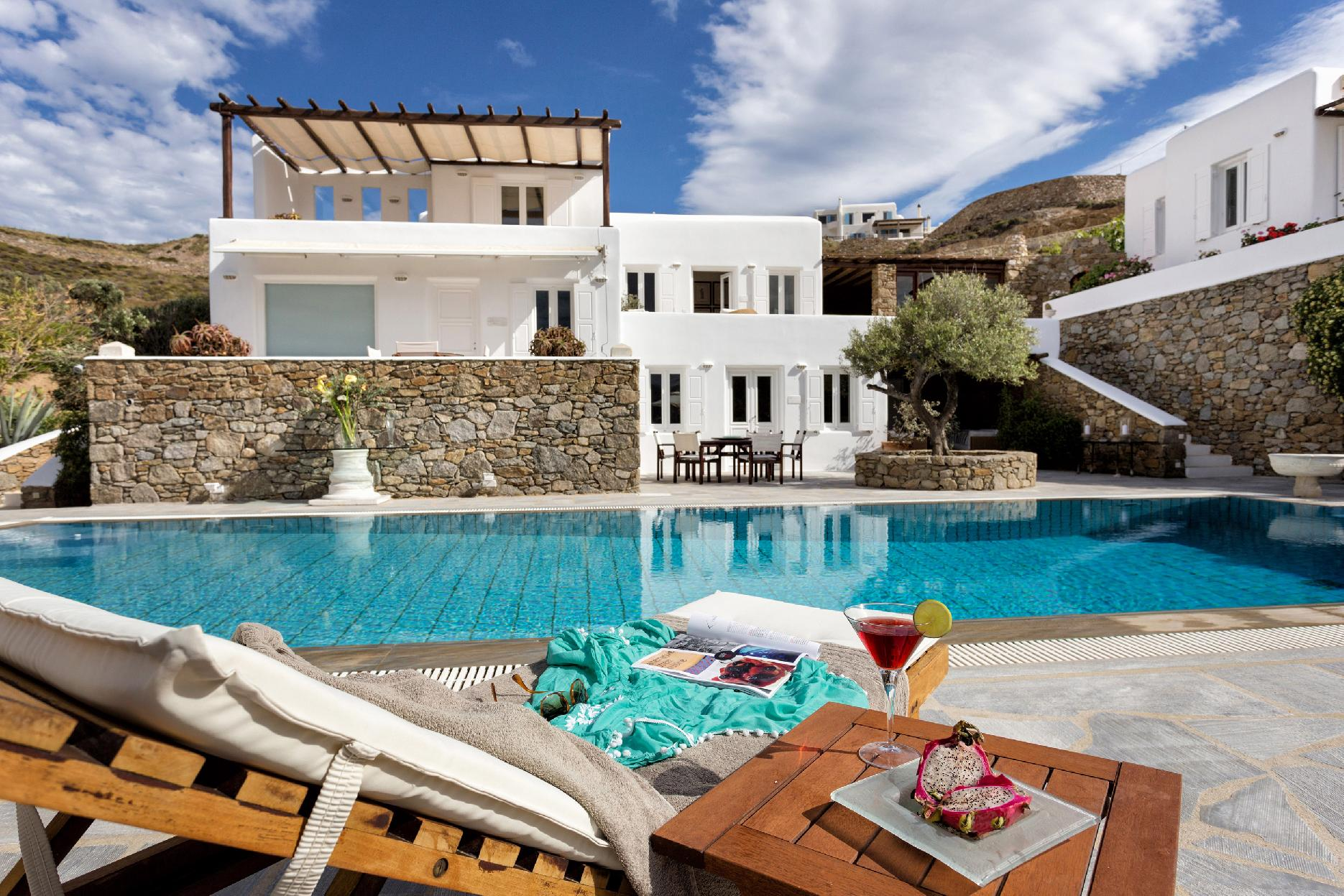 Apartment The Galaxy Mykonos villa with large pool and yoga platform photo 6005337